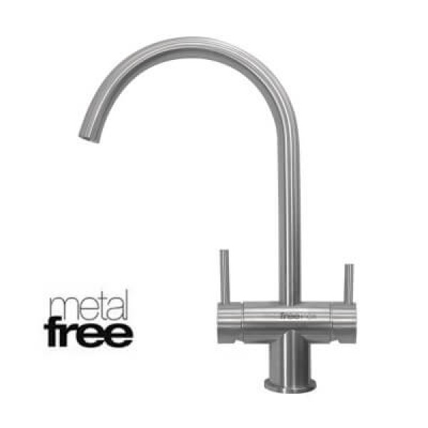 Ares Metal Free 3 Way Chromed Faucet (Cold+Hot+Pu...