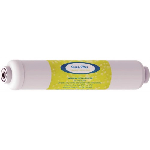 """pH increaser  Post Carbon In-line type cartridge 10""""x2"""", connection 1/4"""""""
