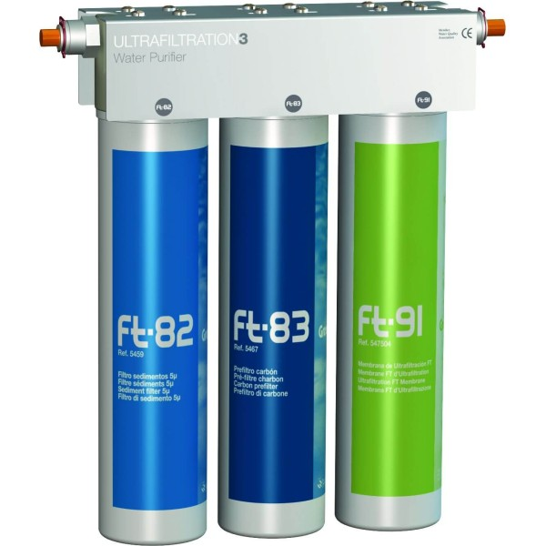 In-Line Water Filter System Ft-Line3 UF+GAC (Green...