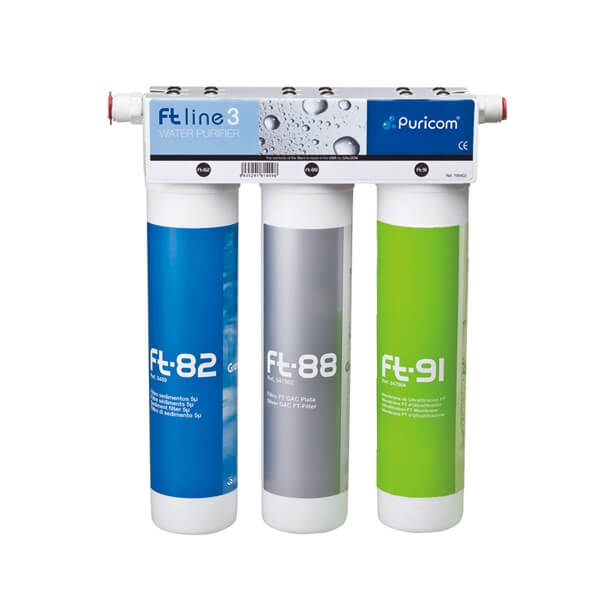 In-Line Water Filter System Ft-Line3 UF+Silver GAC...